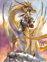 Dragonlance Laurana 1 by DanielGovar