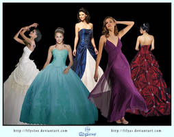 STOCK Dress Ball Gown Pack by Lilyas