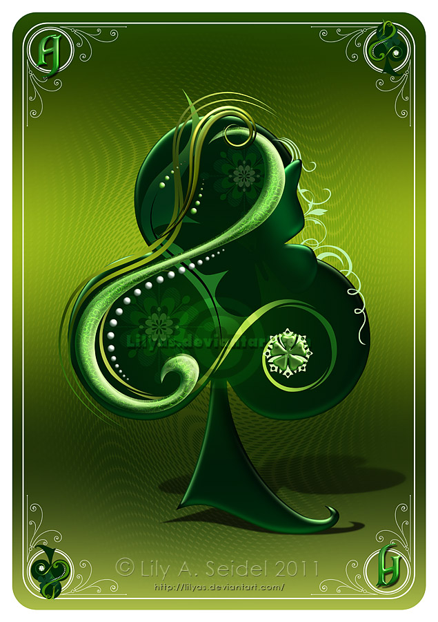 Ace of Clubs CARD by Lilyas on DeviantArt