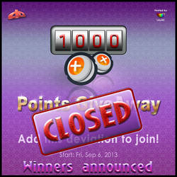 1000 Points Giveaway - WINNERS