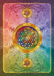 Flower of Life Postcard dark