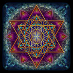 Flower of Life Fractal Star of David