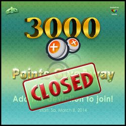 3000 Points Giveaway CLOSED