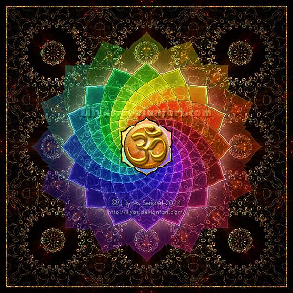 Lotus Om Mandala PRINT by Lilyas