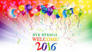 Happy New Year 2016 Wallpaper by Lilyas