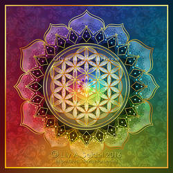 Rainbow Flower of Life Lotus