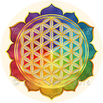 Flower of Life Lotus Sticker for Mobiles