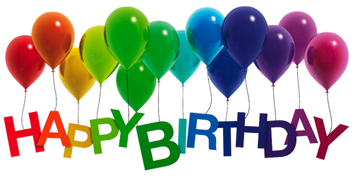 Happy Birthday Rainbow Balloons