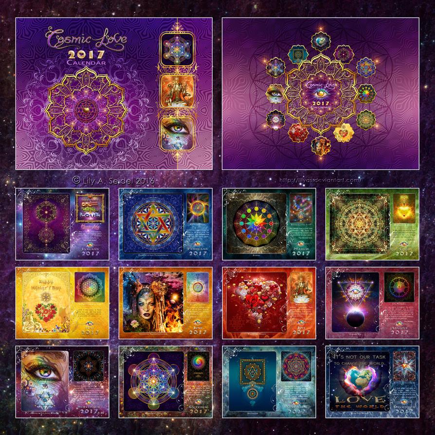 Cosmic Love 2017 Calendar by Lilyas