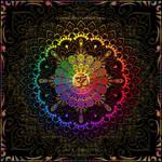 OM Rainbow Mandala