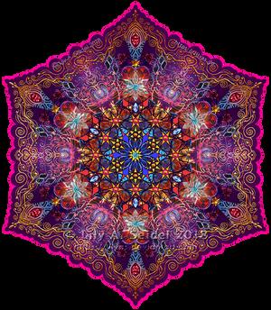 Golden Lace Mandala v.2