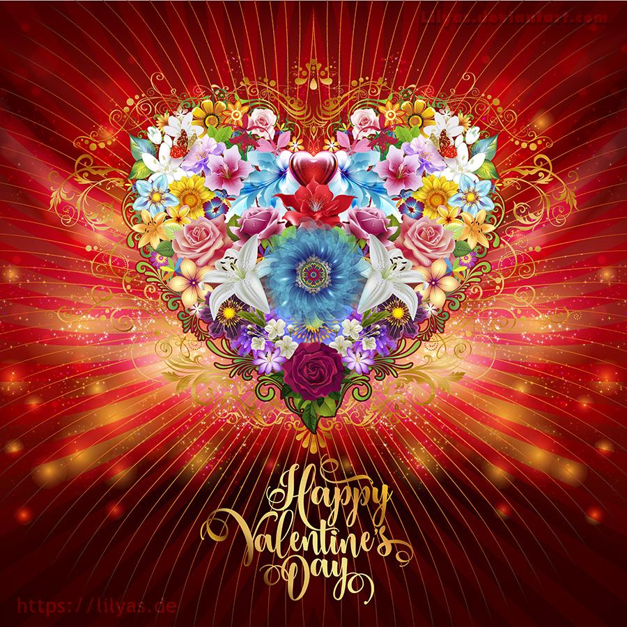 Valentine Flower Heart