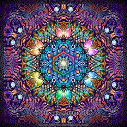 Sunflower Fractal Mandala