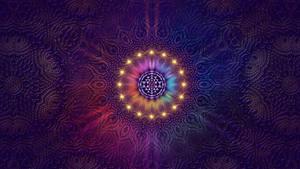 Purple Sri Yantra Mandala Wallpaper