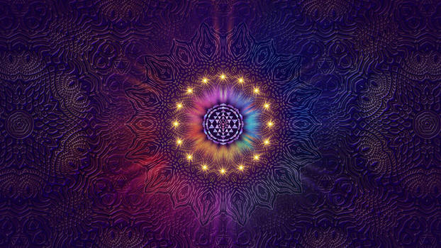 Purple Sri Yantra Mandala Wallpaper