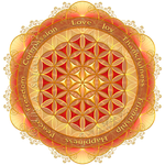 Flower of Life Gold by Lilyas