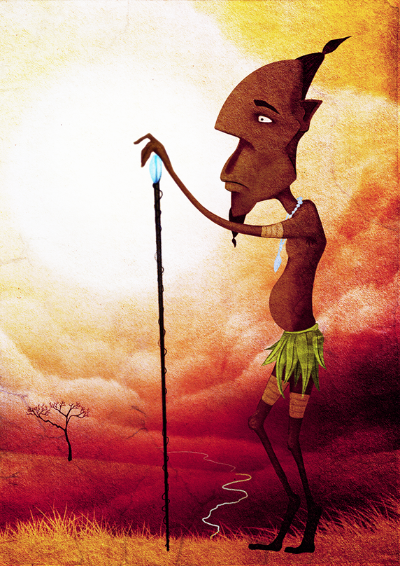 Tribal Man by leoslim