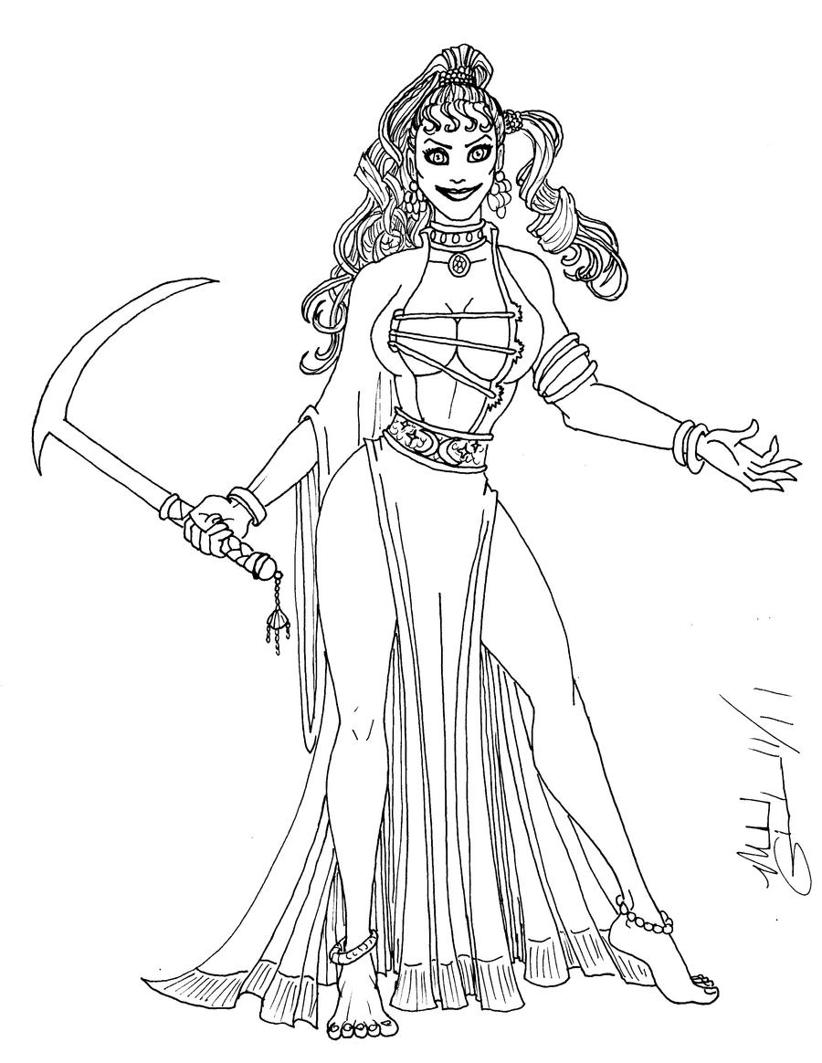 Circe From The Odyssey Drawing