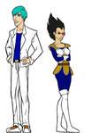 Genderbent Bulma and Vegeta by MajinNeda