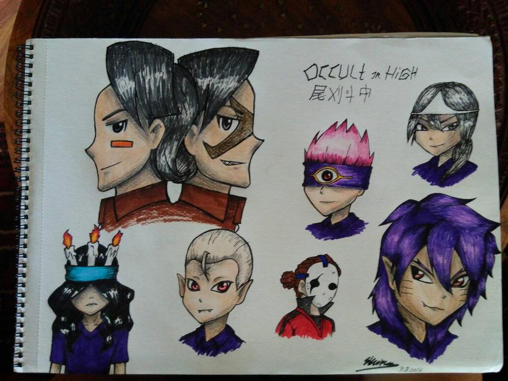 Inazuma Eleven  Occult Jr High  by OtakuGurlLady