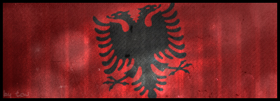 Albania flag signature by t-ton