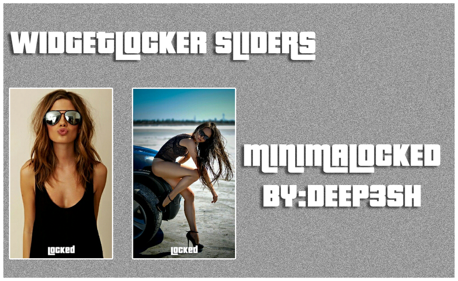 MINIMALOCKED WIDGETLOCKER THEME by deep3sh