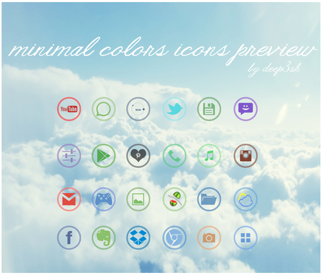 MINIMAL COLORS ICONS