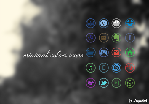 MINIMAL COLORS ICONS - RELEASED