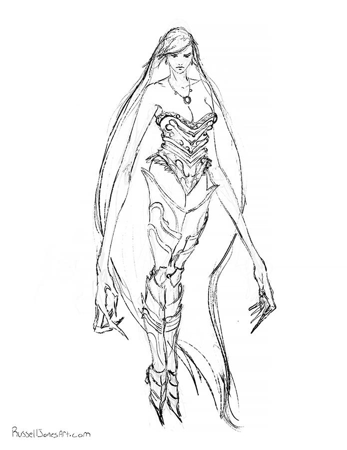 vampire lady concept by Jones0da