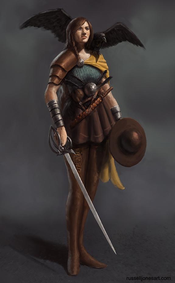 Crow Warrioress by Jones0da