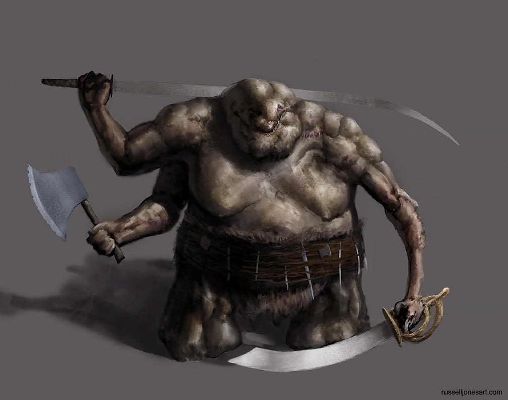 three armed demon sketch by Jones0da