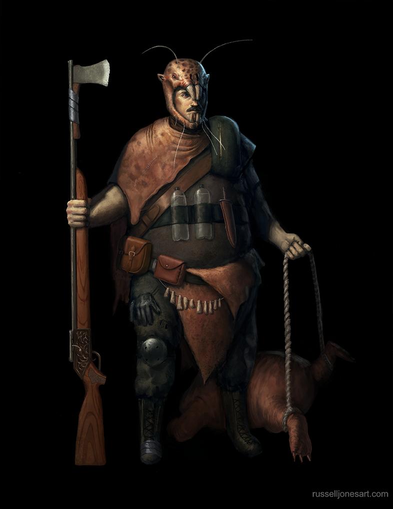 Fallout mole rat hunter by Jones0da