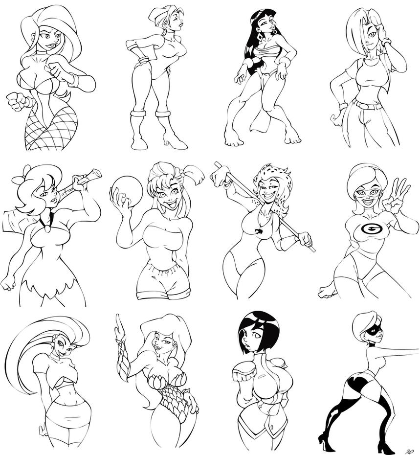 drawings to color by rickcelis on deviantart - Drawing To Color