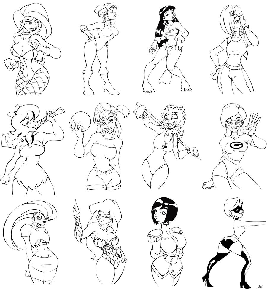 Drawings to color by RickCelis on DeviantArt