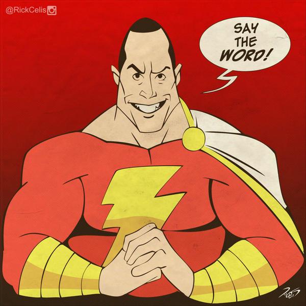 Shazam ( Dc comics) avec Dwayne Johnson (2019) Say_the_word_by_rickcelis-d7rnose
