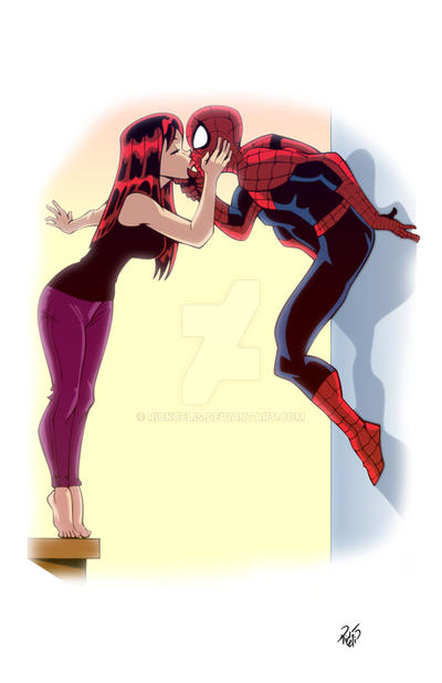 Commission - Spidey and MJ by RickCelis