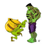 The Grinch and Hulk - COMMISSION