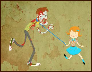 Walking the Zombie by taconaco