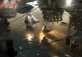 Water Patrol - Bionic Commando by arcipello