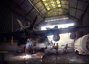 The Hangar - Bionic Commando by arcipello