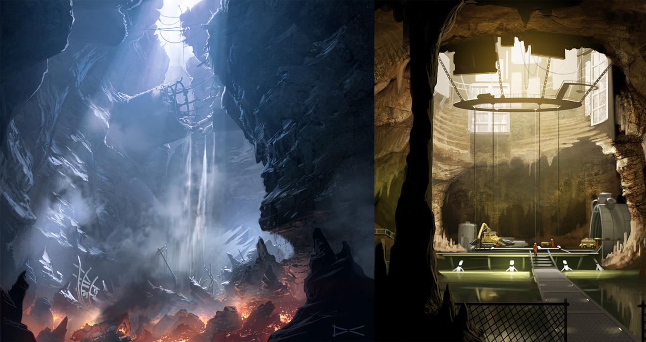 The caves - Bionic Commando by arcipello
