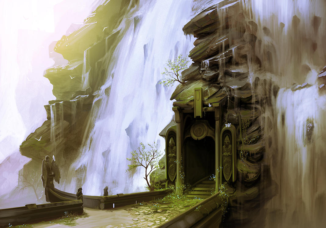 Waterfall Doorway by arcipello