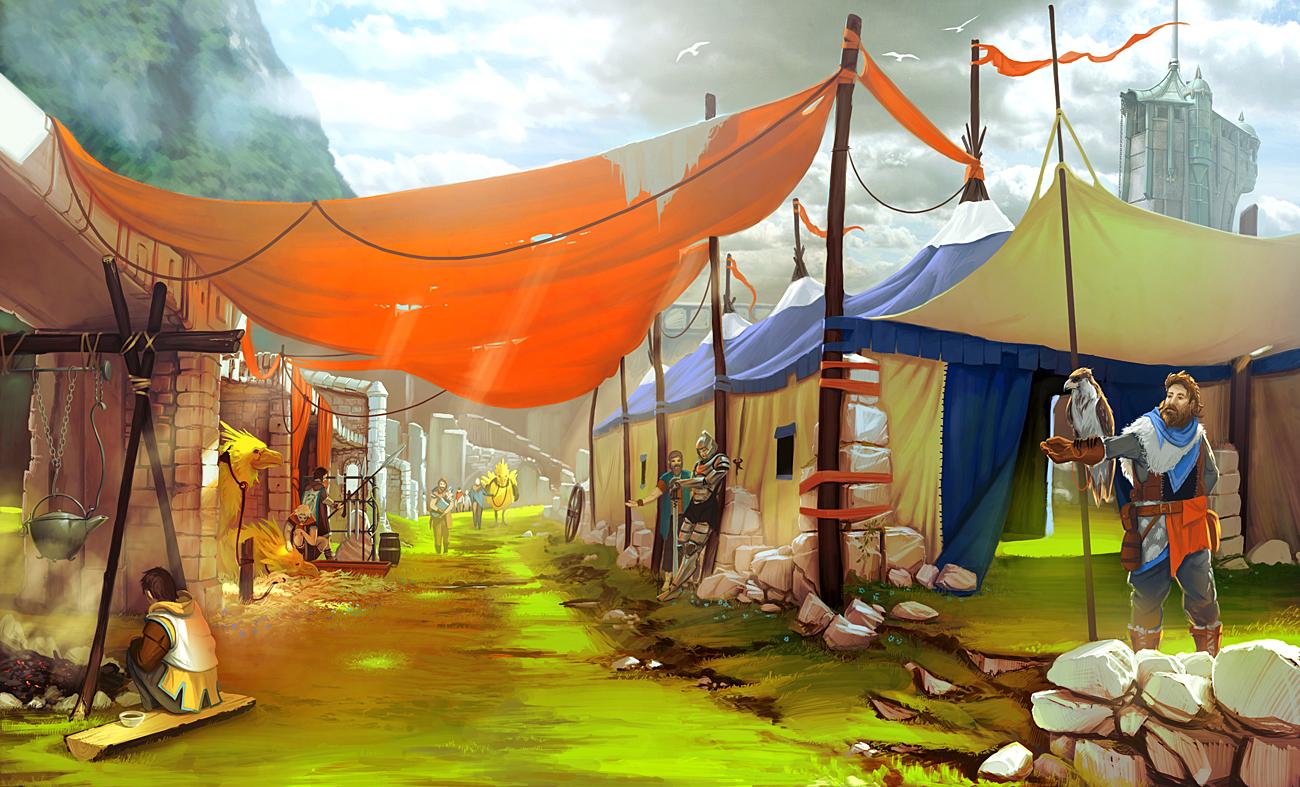 Market mood painting