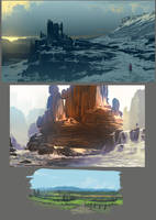 sketchy landscapes by arcipello