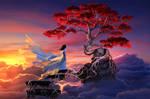 The Sakura in the sky