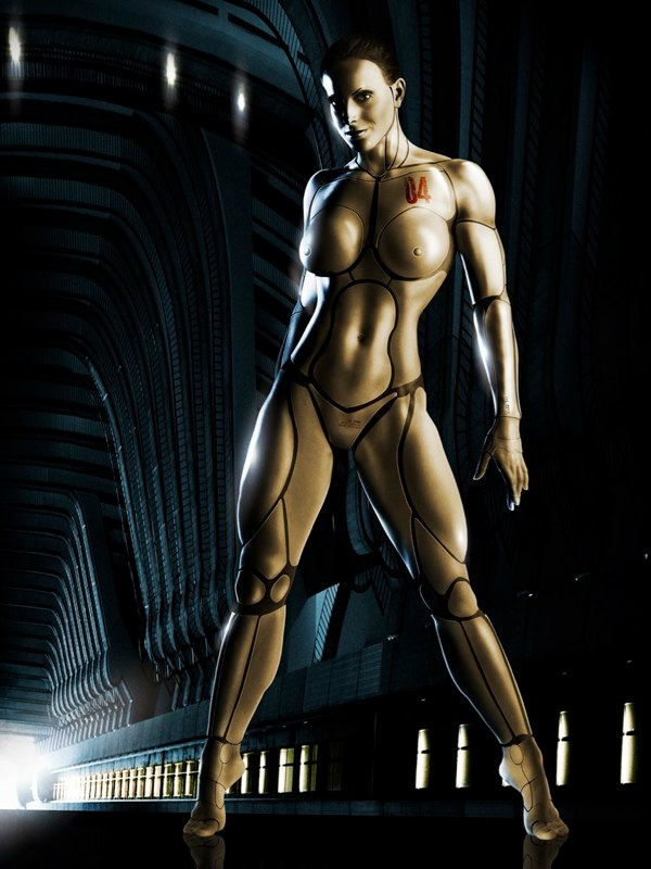 robot woman animation nude
