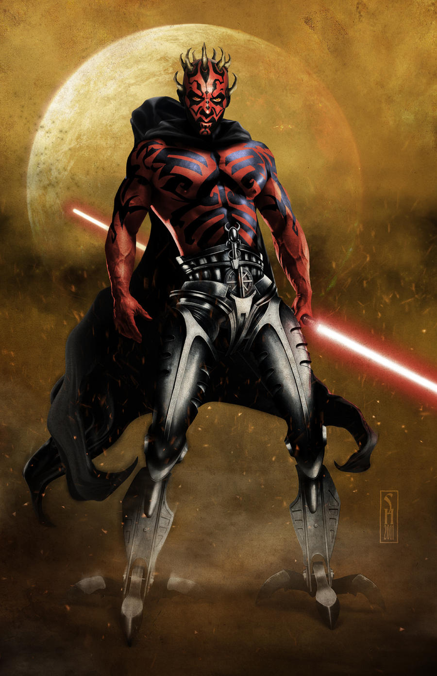Cyborg Darth Maul by Harben-Pictures