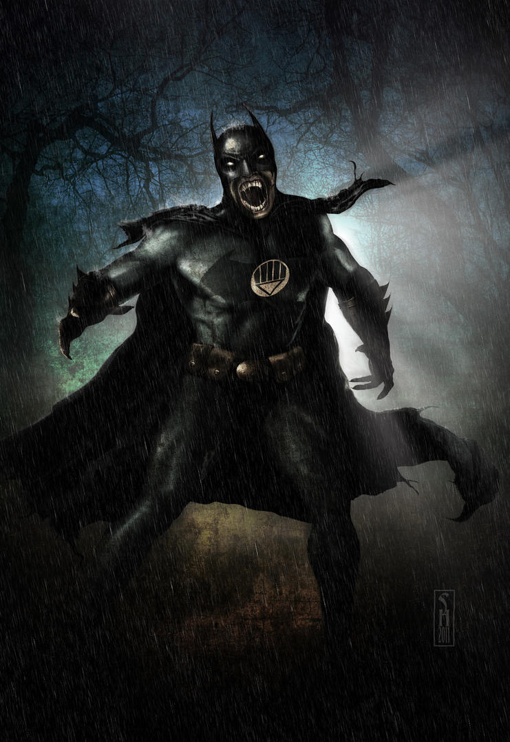 Black Lantern Batman by Harben-Pictures