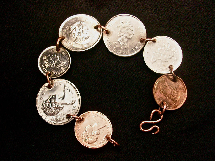 canadian coin braclet by Haeddre