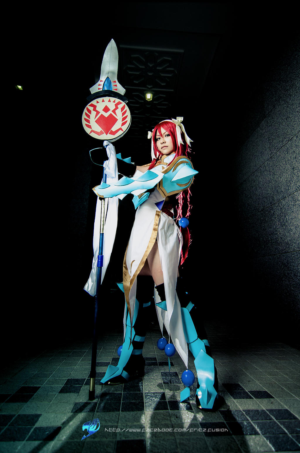 Erza Scarlet, Lightning Empress Armor by fritzfusion